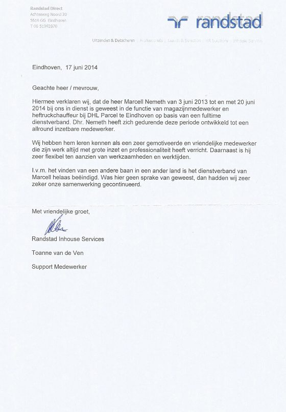 marcell_nemeth_reference_letter_netherlands_randstad_nl